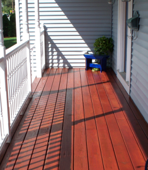 Stearns Painting will repair and refinish your outdoor deck.