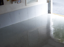 Epoxy floors are durable and attractive.