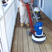 Stearns Painting uses the finest equipment and products to refinish decks.